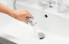 シングルレバー洗髪シャワー水栓